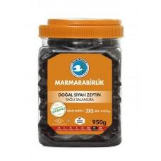Dogal siyah zeytin 3XS Marmara 950g